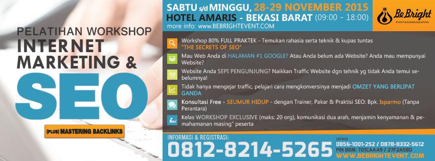 Pelatihan SEO Bekasi, SEO Seminar Trainig | 0812 8214 5265